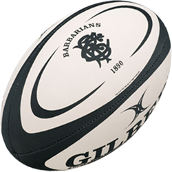 Gilbert rugbybal Replica Barbarians maat 5