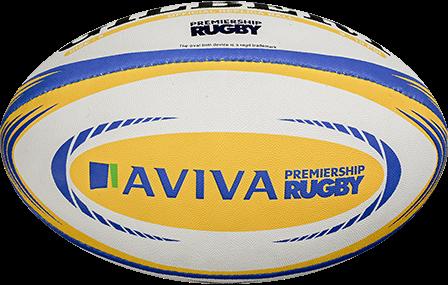 Gilbert rugbybal Replica Aviva Prem Mini