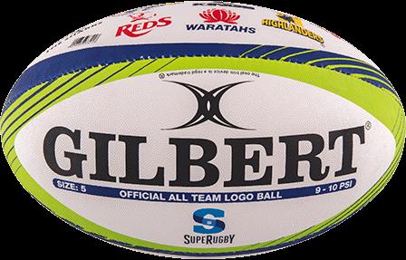 Gilbert Ball Memo Logo Super Rugby Sz5