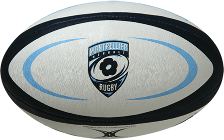 Gilbert rugbybal REP MONTPELLIER 14 - Mini 15cm