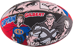 Gilbert rugbybal Randoms Super Hero maat 3