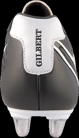 Gilbert rugbyschoenen Celera V3 Lo 8S Bk/Wh 13-3