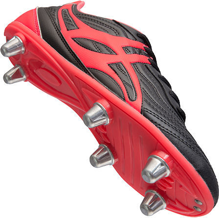 Gilbert rugbyschoenen sidestep V1 Lo 6S Hot Red 3.5