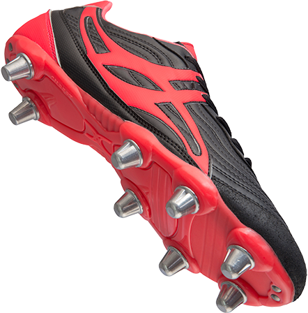 Gilbert rugbyschoenen sidestep V1 Lo8S Hot Red 10.5-2