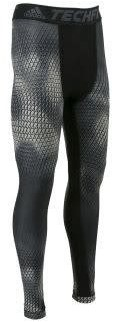 Adidas TECHFIT CHILL GRAPHIC LONG TIGHTS Heren  Anthraciet - M