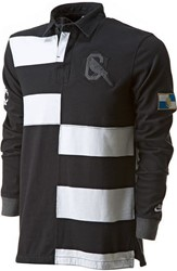 nike Old School Rugby shirt zwart/wit banner