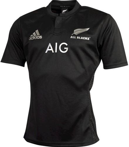 Adidas All Blacks Home Game Shirt  Zwart - 170