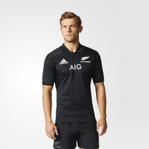 Adidas All Blacks Home Game Shirt  Zwart - XS