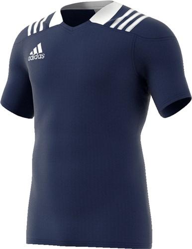 Adidas rugbyshirt donkerblauw