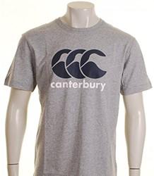 CANTERBURY CCC LOGO T-SHIRT - 2XL - CLASSIC MARLE/CARBON