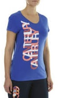 CANTERBURY LAYERED TEXT TEE - MADISON BLUE