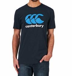Canterbury T-shirt met Logo Donkerblauw