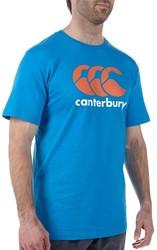 Canterbury T-shirt Logo blue Aster