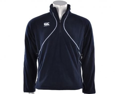 Canterbury Fleecetrui Mercury 1/4 zip, microfleece. non returnable.  Blauw - S