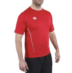 CANTERBURY CLASSIC DRY SHORT SLEEVE TEE - L - RED