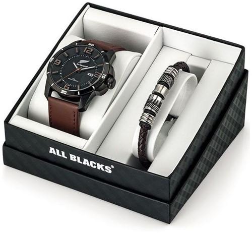 All Blacks Horloge en Armband in geschenkverpakking