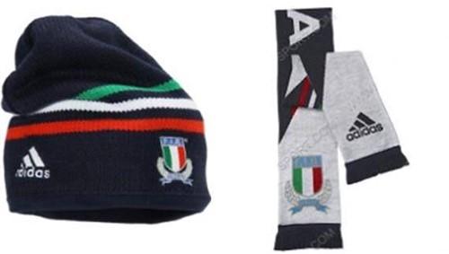 Adidas Italia Muts en Sjaal  Blauw - SR