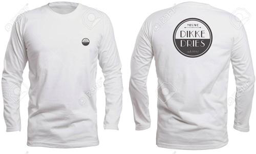 DIKKE DRIES Longsleeve wit logo