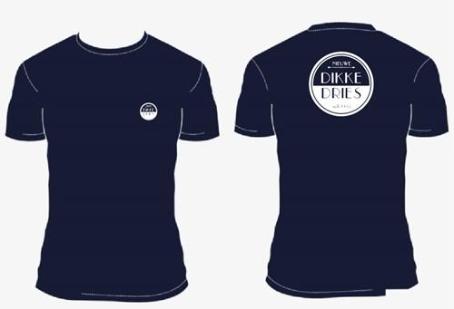 DIKKE DRIES tshirt navy logo
