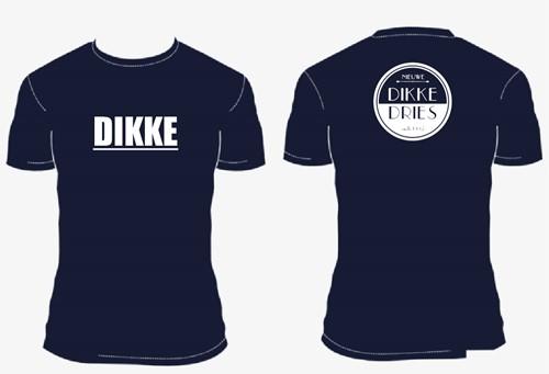 DIKKE DRIES tshirt navy logo DIKKE maat M