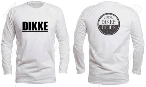 DIKKE DRIES Longsleeve wit logo DIKKE -maat 2XL