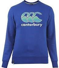 CANTERBURY CCC GRAPHIC LOGO CREW SWEAT - M - SPORT BLUE MARL
