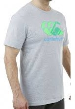 CANTERBURY CCC GRAPHIC LOGO T-SHIRT - M - PALE GREY MARL