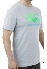 CANTERBURY CCC GRAPHIC LOGO T-SHIRT - S - PALE GREY MARL