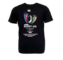 CANTERBURY RUGBY AID TEE - dames 10 S - BLACK