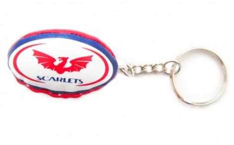 Gilbert rugbybal sleutelhanger SCARLETS