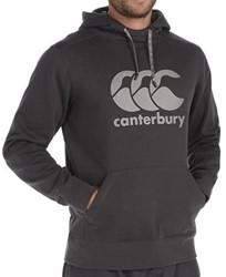 CANTERBURY ESSENTIALS  OTHHOODY - M - BLACK/GREY