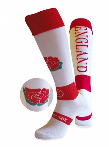 WackySox Engeland sokken  Rood / Wit - 35-40