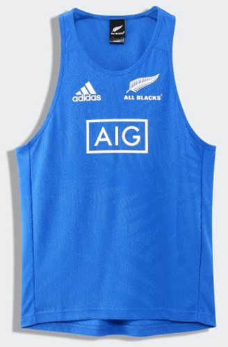 All Blacks RWC SINGLET Blauw/wit