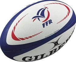Gilbert Rugbybal Frankrijk mini  rood/wit/blauw - mini