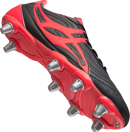 Gilbert rugbyschoenen sidestep V1 Lo8S Hot Red 11.5-2
