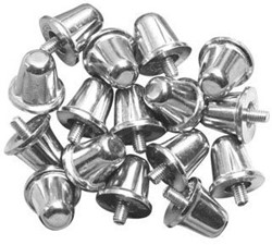 Gilbert noppen Aluminium 18Mm (100)