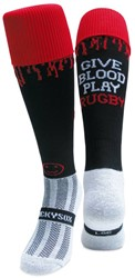 WackySox Give Blood Play Rugby