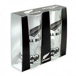 All Blacks glazen (verpakking 2 stuks)
