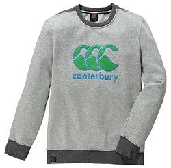 CANTERBURY CCC LOGO CREW SWEAT - PALE GREY MARL