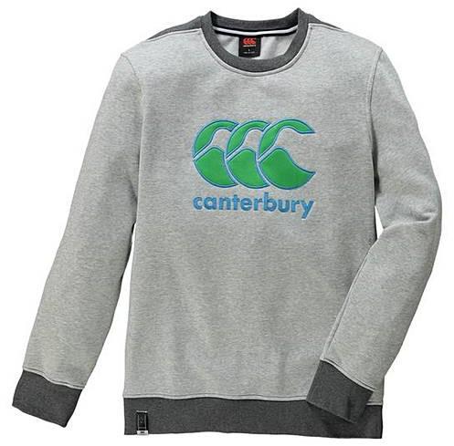 CANTERBURY CCC LOGO CREW SWEAT - PALE GREY MARL