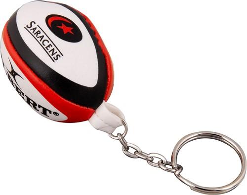 Gilbert rugbybal sleutelhanger SARACENS