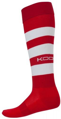Kooga rugbysokken Hooped  Rood - 33-40