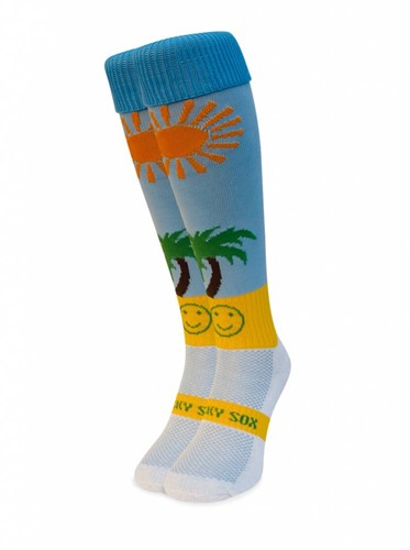 WackySox Life is a beach  lichtblauw - 46-49