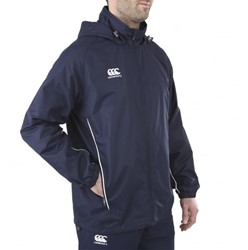 CANTERBURY CLASSIC FULL ZIP RAIN JACKET WOMENS - 14 - NAVY