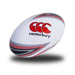 Canterbury Mentre Rugby Ball Flag red/black - Size 5