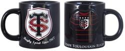 Rugby Distribution Toulouse drinkbeker  zwart - beker