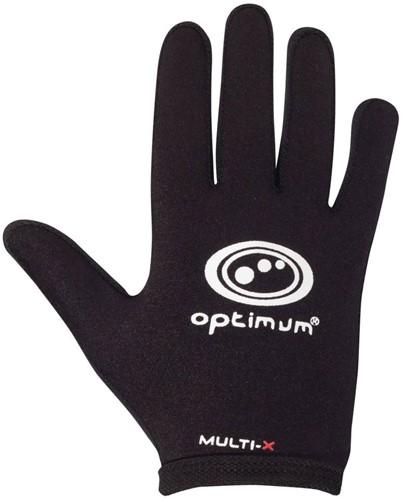 Optimum rugbyhandschoenen  zwart - L