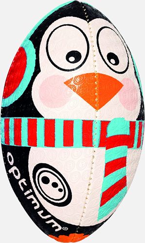 Kerst Pinguin rugbybal maat MINI 15 cm