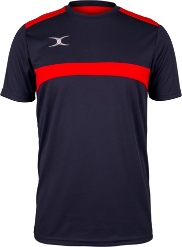 Gilbert TEE PHOTON DONKER NAVY/ROOD 2XL