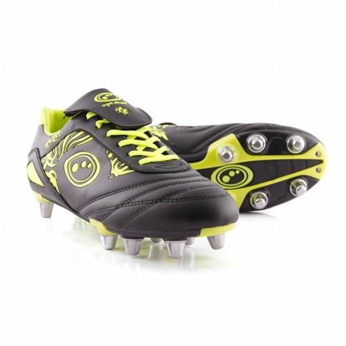 Optimum rugbyschoenen Razor Zwart / Fluor geel - EUR45 UK11
